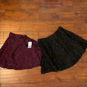 2 Lace Skirts.